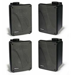 Kicker 11KB6000B Black Outdoor Speaker Bundle 4 Speakers