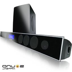 "2.1 Soundbar w 8.0"" wireless subwoofer and MAXBASS chip by S"