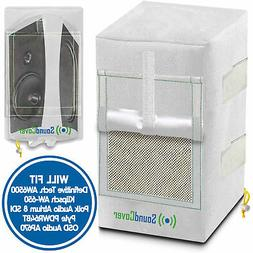 2 Large White Outdoor Speaker Covers fits Def. Tec AW6500 Kl