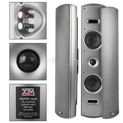 """2 Pack Dual 4"""" Home Theater Indoor Outdoor Speakers Wall Mou"""