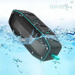20W Rugged Portable Waterproof Bluetooth Speaker w Bumping B