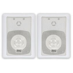 4 Inch Indoor/Outdoor Speakers - White - PAIR