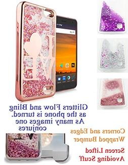 "for 5.5"" ZTE BLADE X bladeX Case Phone Case Flowing Glitter"