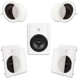 "Acoustic Audio HT-85 In Wall In Ceiling 1500W 8"" Home Theate"
