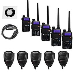 BaoFeng 5 Pack UV-5RTP 8W Dual Band Two Way Radio  with 5 Re