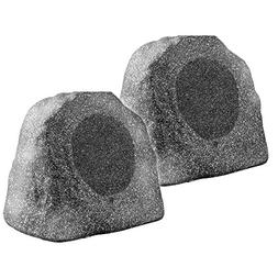 "Bluetooth Wireless Rock Speaker Pair, 8"" 100W Weather-Resist"
