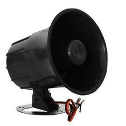 XINFLY Wired Alarm Siren Horn 1-Tone 15W DC 12V Outdoor with