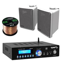 Amp And Speaker Combo Packge: Pyle PDA5BU Bluetooth Radio US