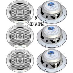 Lanzar 6.25 Inch Marine Speakers - 2 Way Water Resistant Aud