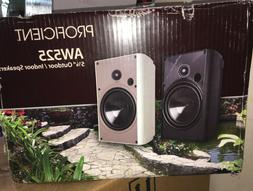 """Proficient Audio Systems AW525wht 5.25"""" Indoor / Outdoor Spe"""