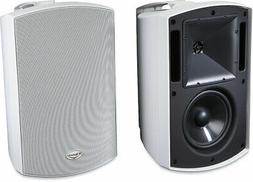 aw 650 black outdoor stereo speakers pair