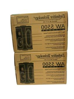 Definitive Technology AW5500 AW-5500 White 1 pair New in Box