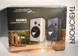 Proficient AW650WH Indoor/Outdoor Speakers New Pair  WHITE S