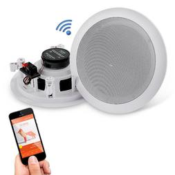 "BLUETOOTH 6.5"" 200W WATERPROOF WALL MOUNT SPEAKERS INDOOR OU"