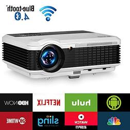 Wireless Bluetooth HDMI Projector 1080P Home Theater 2019 Sm