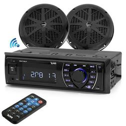 Bluetooth Marine MP3/USB/SD AM/FM Receiver Stereo & 5.25""