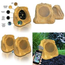 bluetooth outdoor rock speakers canyon sandstone auxiliary