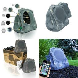 Bluetooth Outdoor Rock Speakers High Fidelity Sound Slate Gr
