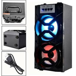 bluetooth Wireless LED Loud Speaker Karaoke Outdoor Protable