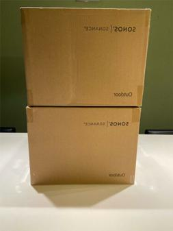 Brand New SONOS Outdoor by Sonance White Speakers X 2  - OUT