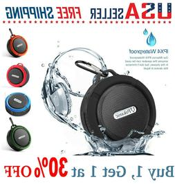C6 Bluetooth Wireless Speaker Waterproof Mic Mini Resistant