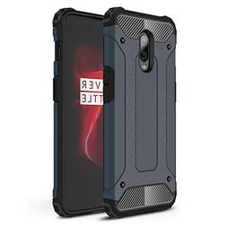 ANGELLA-M Compatible with OnePlus 6T Case - Rugged Hybrid Ha