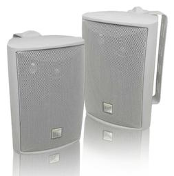 Dual LU43PW Dual 4-Inch 3-Way Indoor-Outdoor Speakers, White