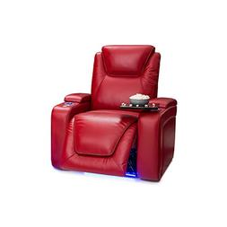 Seatcraft Equinox Leather Power Recliner with Power Lumbar S