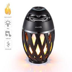 DIKAOU Led flame table lamp, Torch atmosphere Bluetooth spea