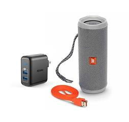 JBL Flip 4 Portable Bluetooth Wireless Speaker Bundle with D