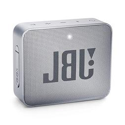 JBL GO 2 Portable Bluetooth Waterproof Speaker, Grey, 4.3 x