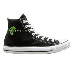 SH-rong Green Cool Chameleon High Top Sneakers Canvas Shoes