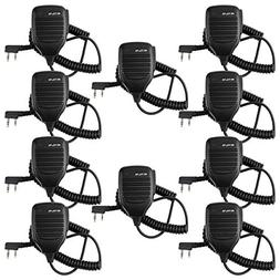 Retevis 2 Pin Speaker Mic Compatible with Baofeng UV-5R BF-8