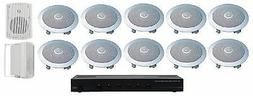 "HOME AUDIO WHOLE HOUSE SPEAKERS- OUTDOOR & 6.5"" CEILING SPEA"