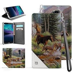 Infolio C Wallet Case For LG K10 Premier LTE PU Leather TPU