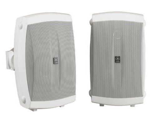 2 way indoor outdoor speakers pair white