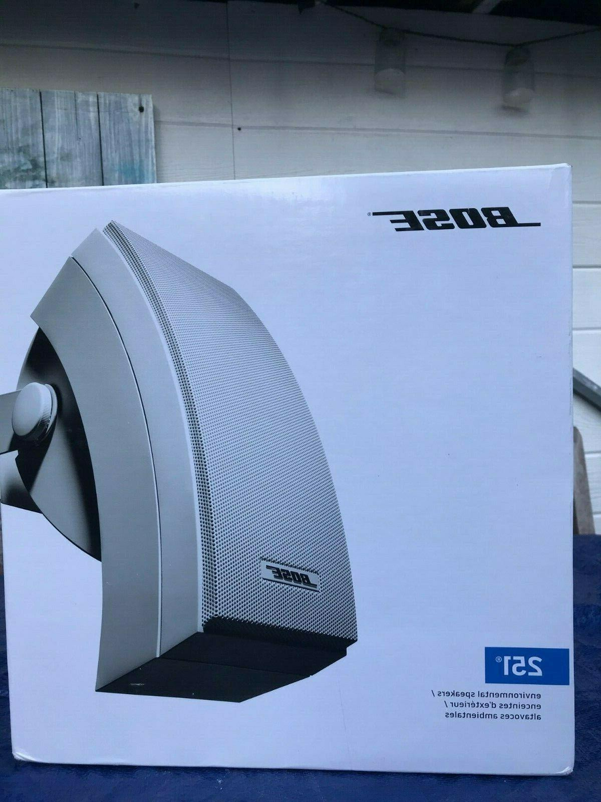 251 outdoor speakers pair new sealed white