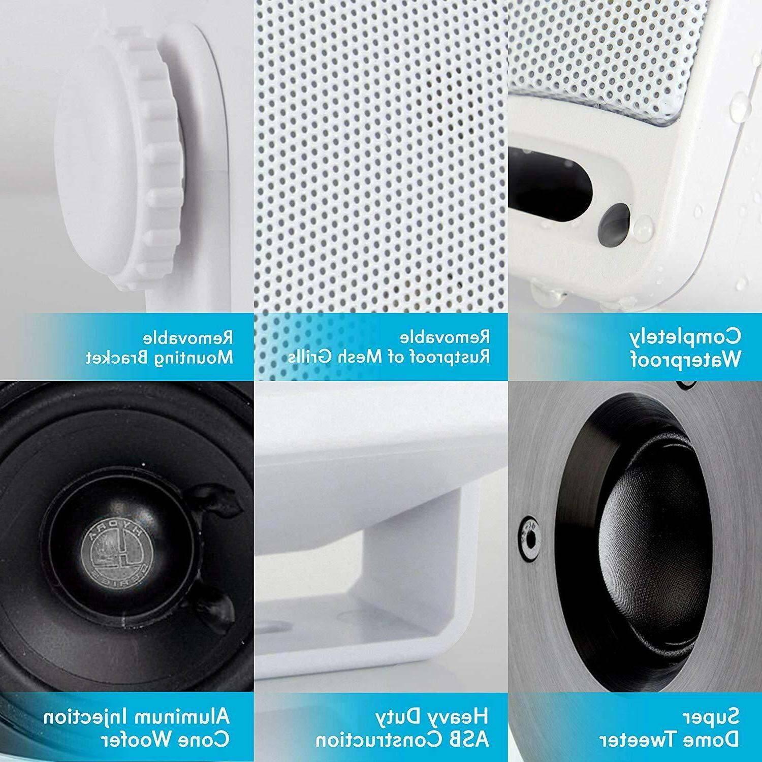 3-Way Weatherproof Outdoor Speaker Set - Inch 200W Grade
