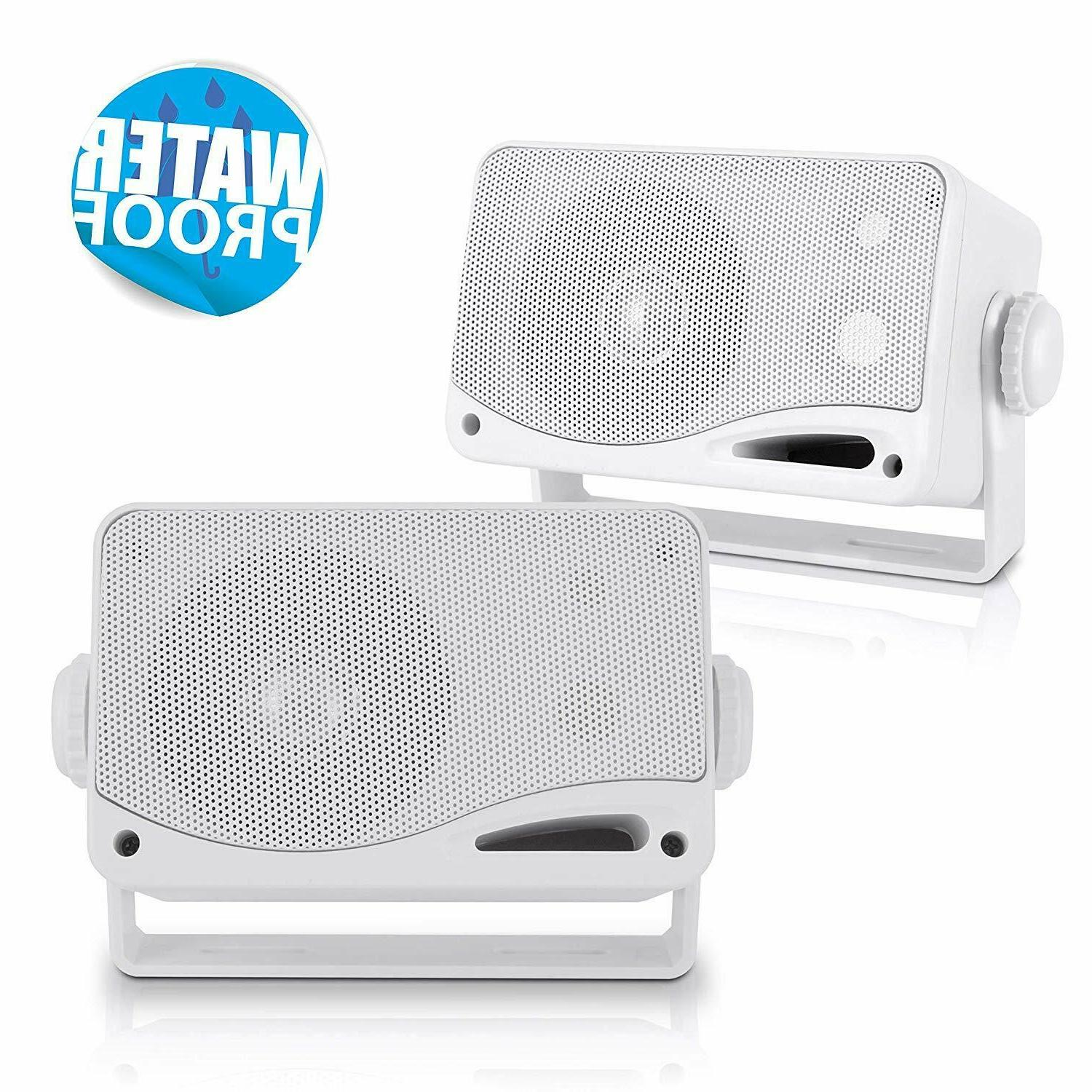 3 way weatherproof outdoor speaker set 3