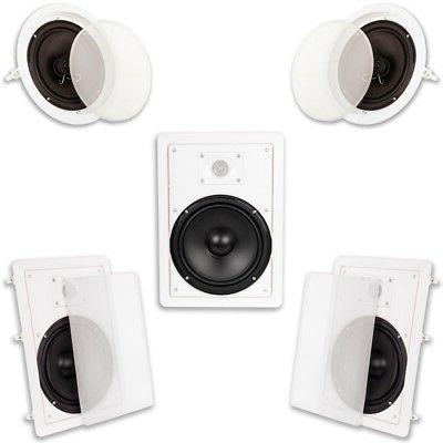 """Acoustic Audio HT-85 In Wall In Ceiling 1500W 8"""" Home Theate"""