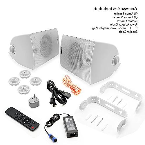 300 Watt 2-Way Audio Waterproof Weatherproof Indoor Speaker a Heavy Cabinet