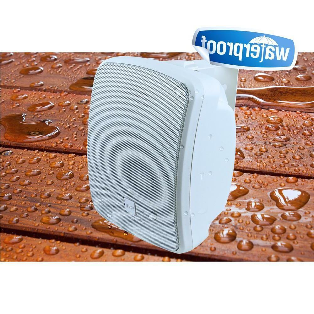 "Pyle - Waterproof Bluetooth 5.25"" Outdoor Speaker Watt, White"