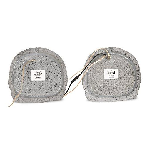 Theater Bluetooth Grey Rock Speaker Pair with Dual Connection