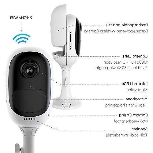Camera 1080p Wire-Free 2-Way Night Alarm Motion Slot