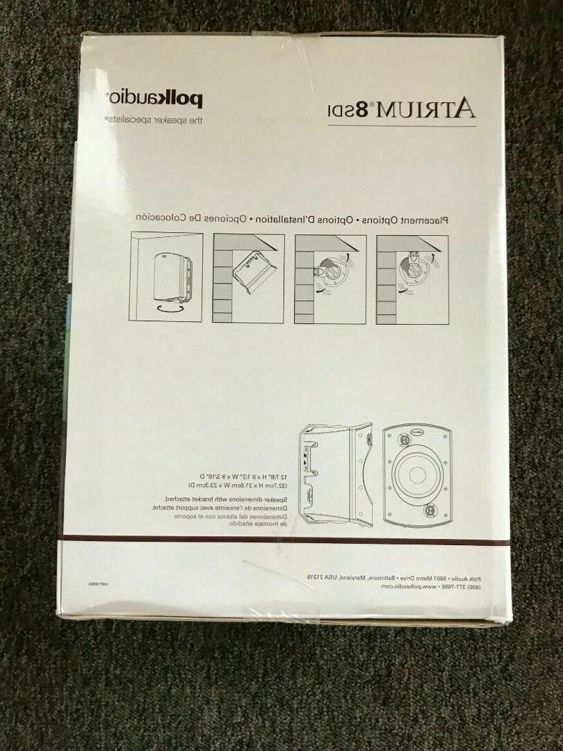 Polk Atrium 8 SDI White Each Brand New Free