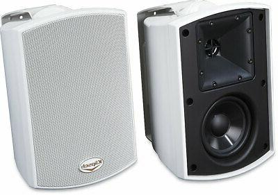 aw 400 indoor outdoor speaker white pair