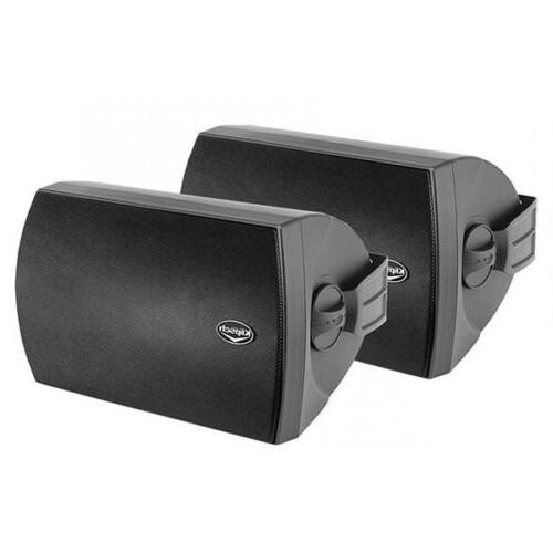 aw 650 outdoor speakers black pair