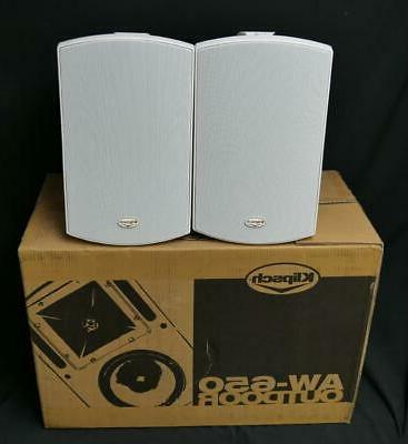 aw 650 outdoor speakers white pair