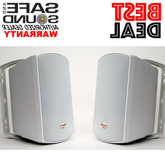 aw525 white outdoor speakers pair