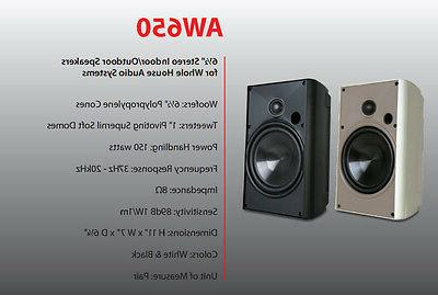 aw650 indoor outdoor speakers new pair aw650